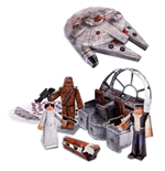 Star Wars Set de Figuras Papercraft Millennium Falcon Vehicle Pack