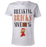 Camiseta Super Mario - Breaking Bricks Since '85 with Jumping Mario - L