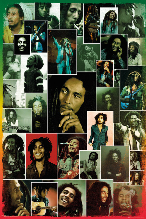 Póster Bob Marley Photo Collage