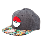 Pokemon Gorra Béisbol Snap Back Poke Ball
