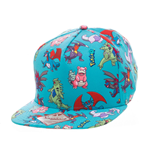 Pokemon Gorra Béisbol Snap Back Characters All Over
