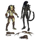 Alien vs. Depredador Pack de 2 Figuras Renegade Predator vs. Big Chap Alien 18 cm