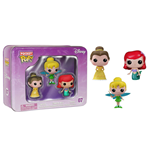 Disney Pack de 3 Figuras Pocket POP! Vinyl Tin Tinkerbell, Belle, Ariel 4 cm