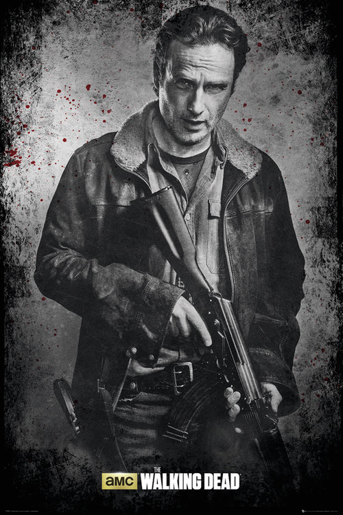 Maxi Póster The Walking Dead Rick Blanco/Negro