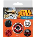 Star Wars Pack 5 Chapas Dark Side