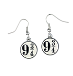 Harry Potter Pendientes Platform 9 3/4 (plateado)
