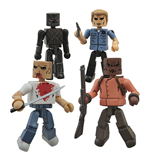 Pulp Fiction Pack de 4 Minifiguras Minimates Bring out the Gimp 5 cm
