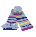 Gorro +  guantes + bufanda My Little Pony