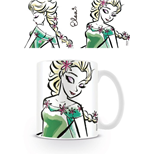 Frozen Taza Elsa Illustration