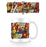Marvel Comics Taza Iron Man Panels