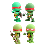 Tortugas Ninja Pack de 4 Minifiguras Battle Damage 8 cm