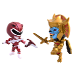 Mighty Morphin Power Rangers Pack de 2 Minifiguras Metallic Goldar vs Red Ranger 8 cm
