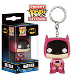 DC Comics Llavero Pocket POP! Vinyl 75th Anniversary Batman Pink 4 cm