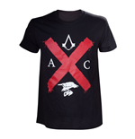 Camiseta Assassins Creed ASSASSIN'S CREED Syndicate Adult Rooks Red Cross Edition camiseta, extra grande, negro