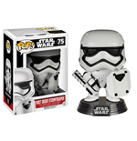 Star Wars Episode VII POP! Vinyl Cabezón First Order Stormtrooper with Shield 9 cm
