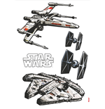 Star Wars Pegatinas de Pared Spaceships 100 x 70 cm