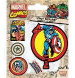 Marvel Comics Pegatina Vinilo Pack Captain America (10)