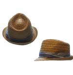 Gorro Free Authority - Straw Fedora Tri-color Band