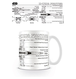 Taza Star Wars - X Wing Fighter Sketch
