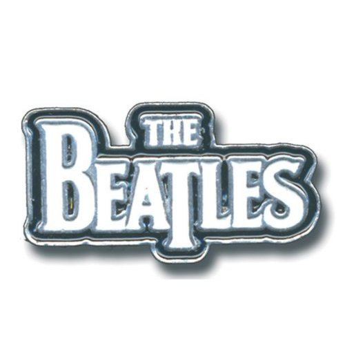 Pin Beatles  - Large Drop T Logo White