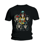 Camiseta Guns N' Roses Vintage Heads