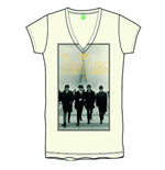 Camiseta Beatles de chica Eiffel Tower