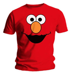 Camiseta Barrio Sésamo Elmo's Face Red