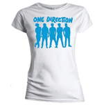 Camiseta One Direction de mujer Silhouette Blue on White