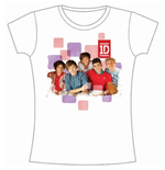Camiseta One Direction de mujer 1D Squares Group