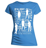 Camiseta One Direction de mujer Silhouette Lyrics White on Blue