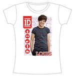 Camiseta One Direction de mujer 1D Louis Symbol Field