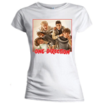 Camiseta One Direction de mujer Band Red Border