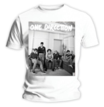 Camiseta One Direction de mujer Band Lounge Black & White