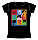 Camiseta One Direction de mujer 9 Squares