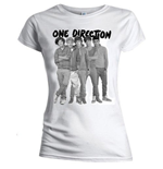 Camiseta One Direction de mujer Group Standing Black & White