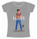 Camiseta One Direction de mujer Louis Standing Pose