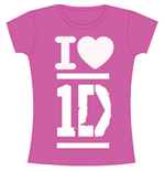 Camiseta One Direction de chica I Love