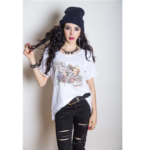 Camiseta De Of Leon Mujer Kings Flowers f7vYb6gy