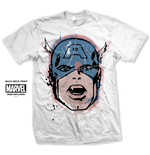 Camiseta Capitán America Capt. America Big Head Distressed