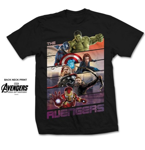 Camiseta Marvel Comics Avengers Bars