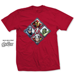 Camiseta Marvel Superheroes Diamond Characters