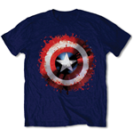 Camiseta Capitán America  Captain America Splat Shield