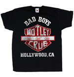 Camiseta Mötley Crüe Bad Boys Shield