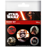 Star Wars Episode VII Pack 5 Chapas Join The Resistance