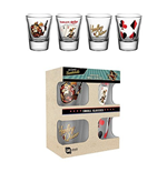 Pack 4 Vasitos Harley Quinn