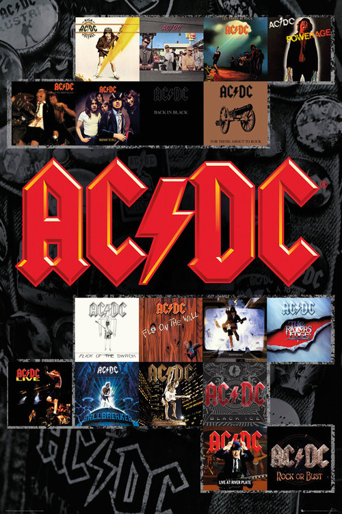 Póster AC/DC Covers