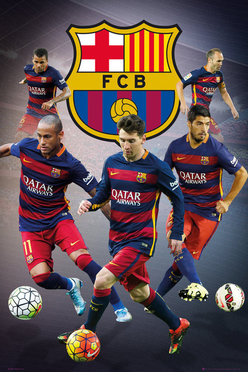 Póster FC Barcelona  Star Players