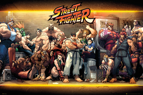 Póster Street Fighter Characters