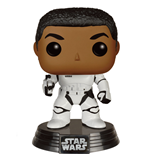 Star Wars Episode VII POP! Vinyl Cabezón Stormtrooper Finn With Blaster 9 cm