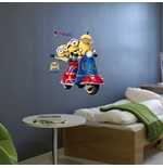 PEGATINAS DE PARED Los Minions Scooter